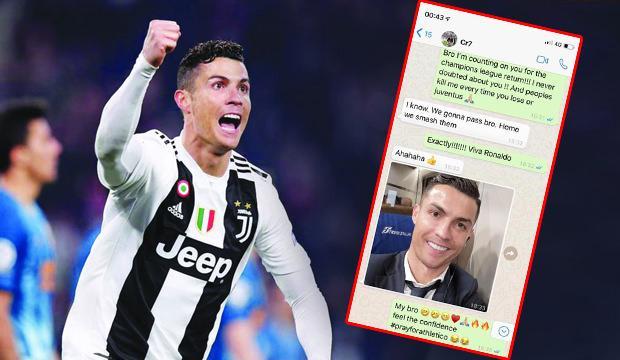 Ronaldo'nun WhatsApp mesajını paylaştı!