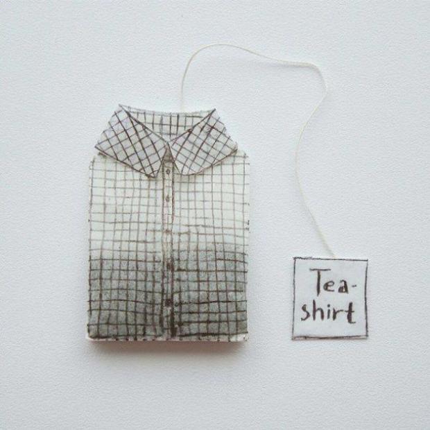 Gömlekten poşet çay