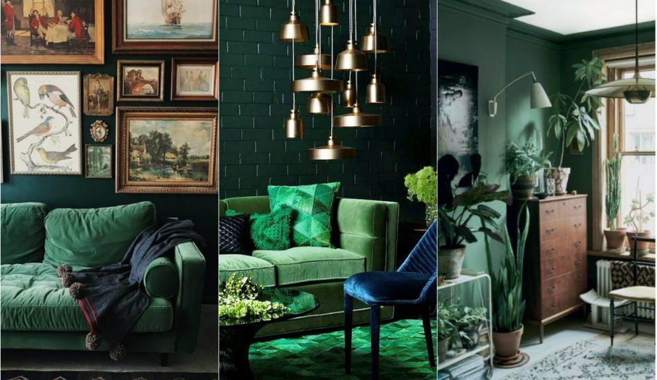 Ev dekorasyonunda su yeşili modası