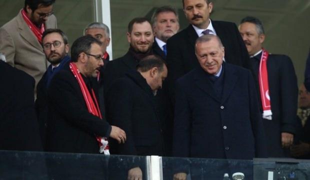 Erdoğan milli maçı takip etti
