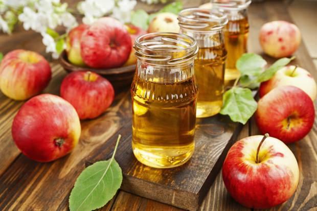 sandaloz sakızı ve elma sirkesi