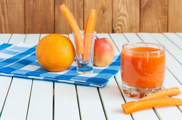 havuç ve portakallı smoothie