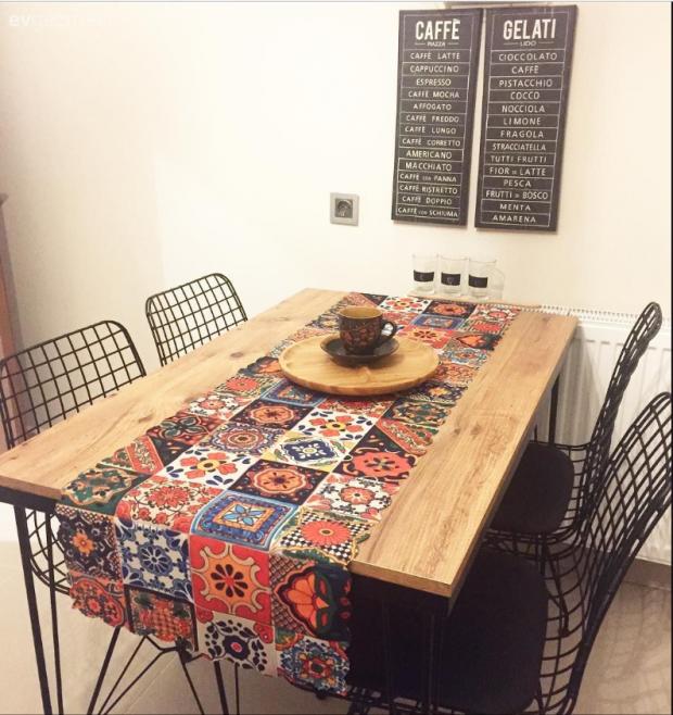 mutfak masası dekorasyonu