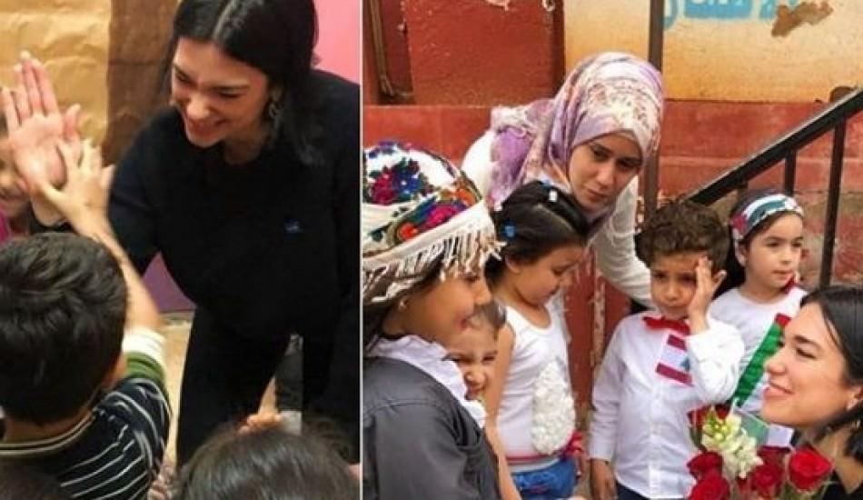 Dua Lipa Suriyeli mülteci çocuklarla bir araya geldi!
