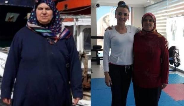 Spor yaparak 6 ayda 31 kilo verdi!