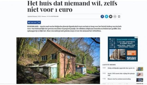 Belçika'daki o evi kimse istemiyor! 1 Euroya bile satılamadı