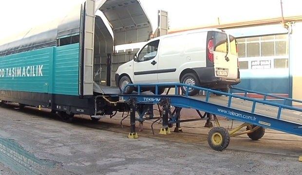 Türkiye'de üretilen araçlar Avrupa'ya trenle götürülecek