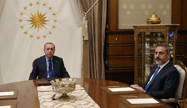 Başkan Erdoğan, Hakan Fidan'ı kabul etti!