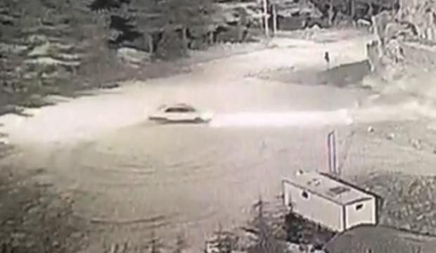 Harput Kalesi önünde drift yaptı polis acımadı