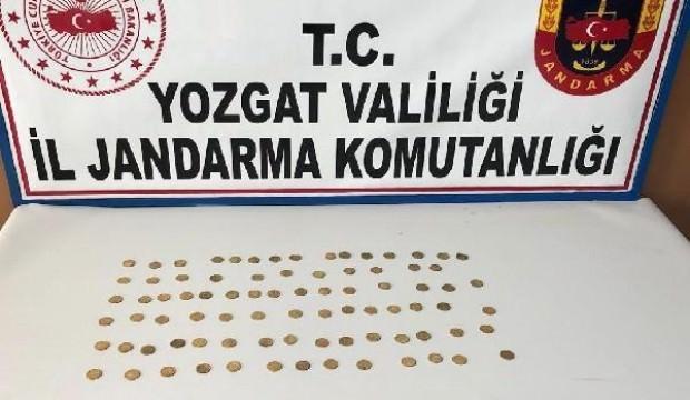 Yozgat'ta Osmanlı dönemine ait 83 sikke ele geçirildi