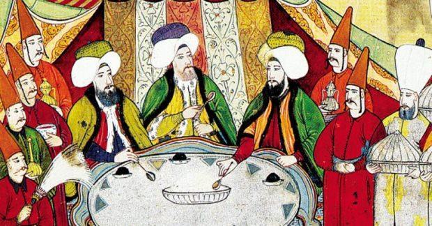 Osmanlı padişahı yemek ziyafeti