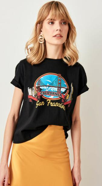 Trendyol baskılı t-shirt modelleri