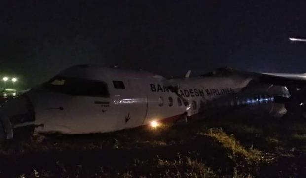 Yolcu uçağı pistten çıktı, kaza yaptı! İlk görüntüler