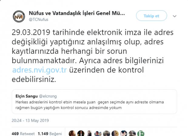 Nüfus ve Vatandaşlık Genel Müdürlüğü Twitter