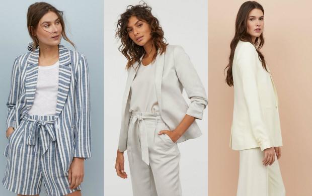 H&M Keten ceket modelleri