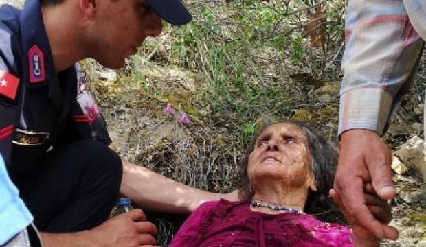 Kayıp yaşlı kadın, ormanlıkta bulundu