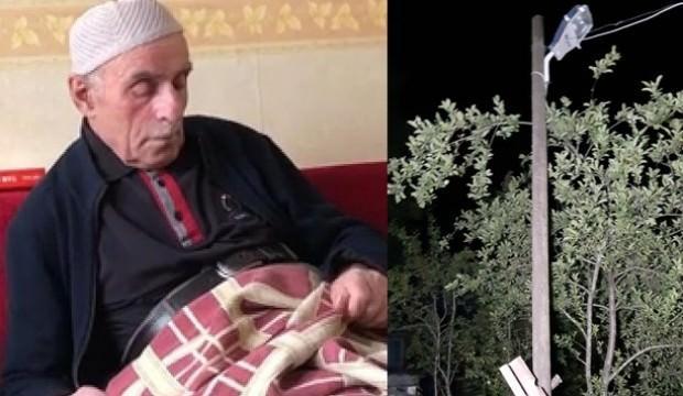 86 yaşında sokak lambasını değiştirmek isteyince...