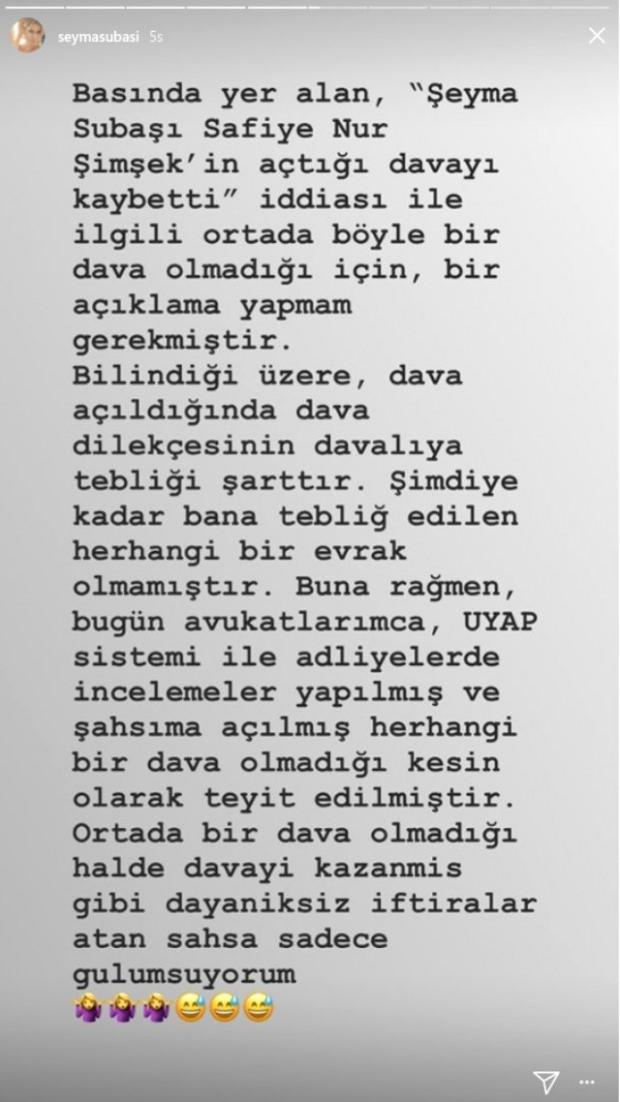 ŞEYMA SUBAŞI HABERLERİ