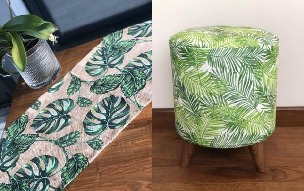 Tropikal yaprak desen stili