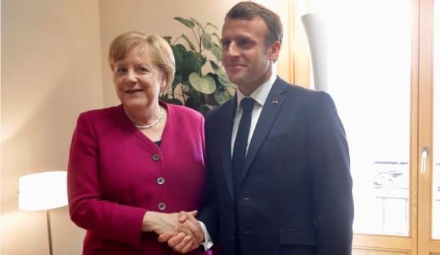 AB'de işler karıştı! Seçim sonrası Merkel ile Macron'un büyük kavgası