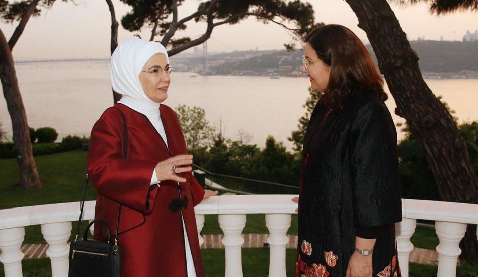 Emine Erdoğan Irak Cumhurbaşkanı eşi Serbagh Salih ile bir araya geldi