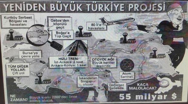 25 Ocak 1997 yılında Hürriyet gazetesi, Refah Partisi'nin projelerini üstü kapalı ve alaycı bir şekilde sayfasına taşıdı.