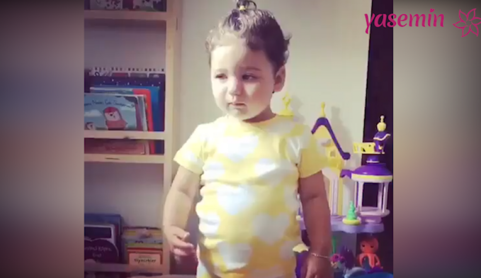 Berkay'ın kızının sevimli halleri beğeni topladı