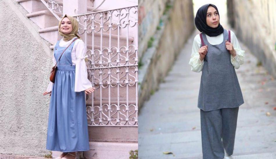 Klasik Tesettür Giyim İçerisinde Elbise Kombinleri ile ilgili görsel sonucu
