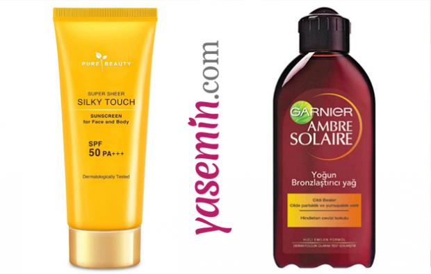Silky Touch Güneş Kremi Yüz Vücut Spf 50& Ambre Solaire Yoğun Bronzlaştırıcı Güneş Yağı
