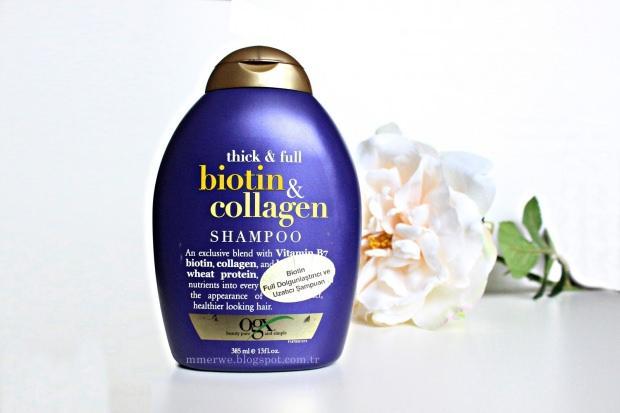 Organix Biotin Collagen Full Dolgunlaştırıcı ve Uzatıcı Şampuan: