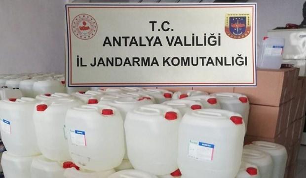 Antalya'da 7 ton etil alkol ele geçirildi