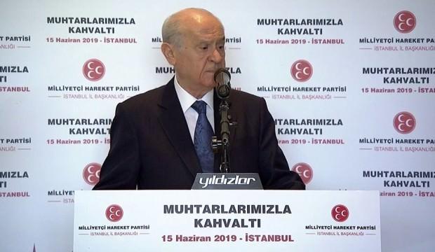 Devlet Bahçeli'den net İstanbul mesajı