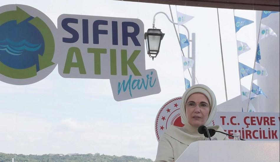 Emine Erdoğan'dan 'Sıfır Atık Mavi' projesine destek çağrısı