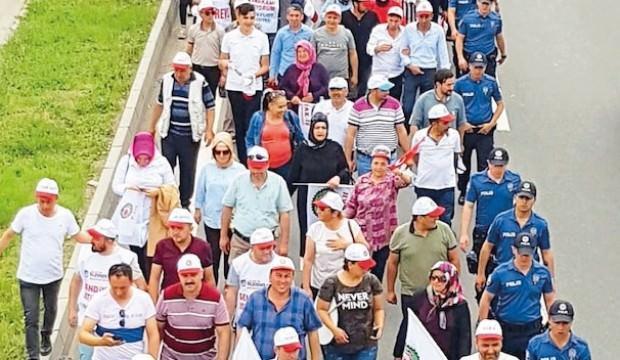 CHP zulmüne karşı adalet yürüyüşü!