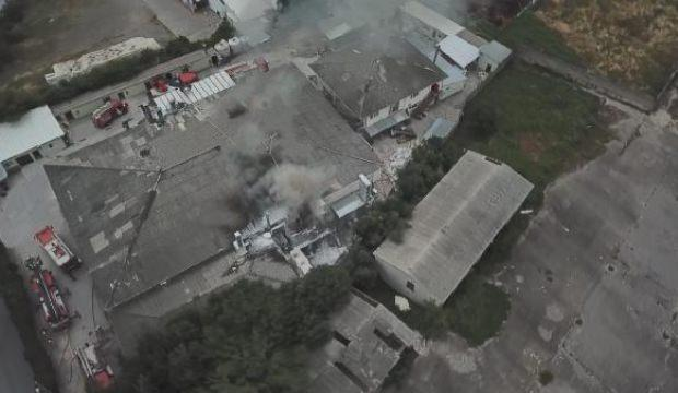 Kartal'da fabrikada yangın