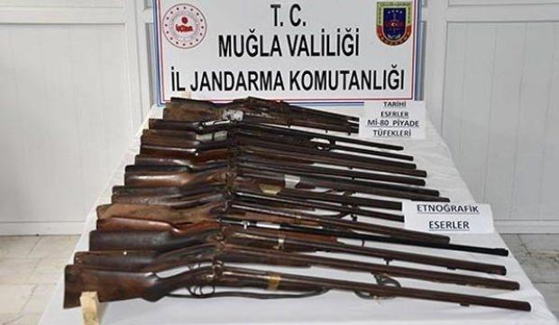Muğla'da tarihi tüfek operasyonu
