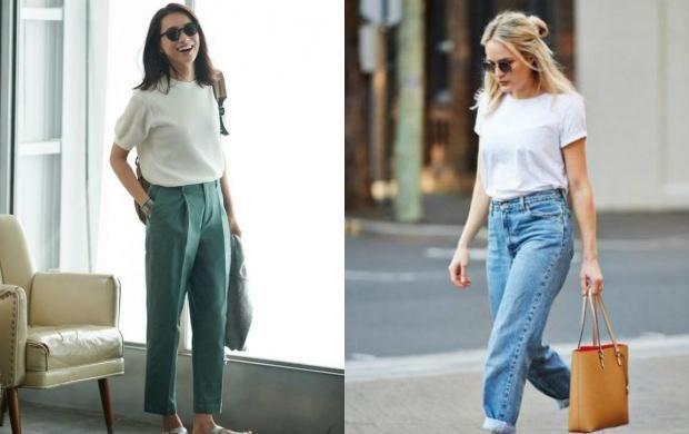 pantolon tişört kombinleri kadın
