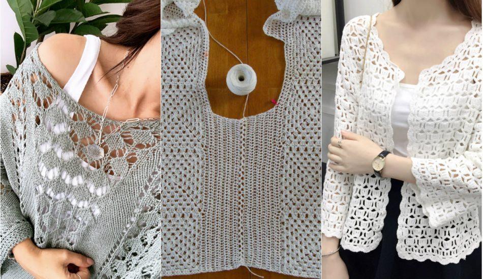 Şişle örülen yazlık bluz modelleri