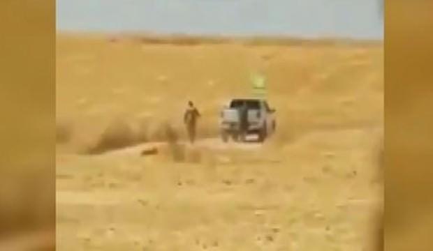 PKK'lı teröristler sivillere ait arazileri ateşe verirken görüntülendi