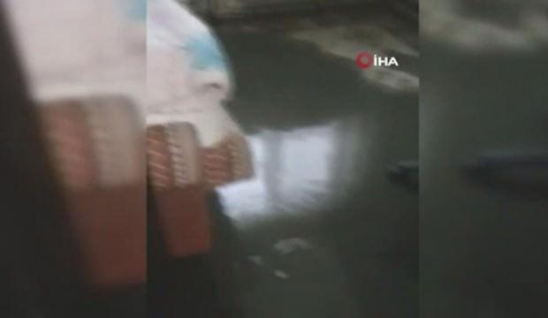 Zonguldak'ta şiddetli yağış: Evleri kanalizasyon suyu bastı