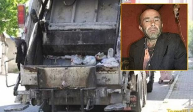 Feci ölüm! Çöp kamyonunun içine düşünce...