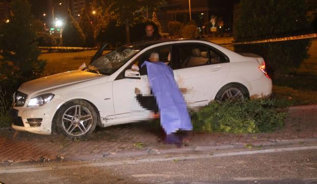 Konya'da feci trafik kazası: Kapının üstüne fırladı