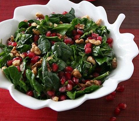 Bulgurlu ıspanak salatası