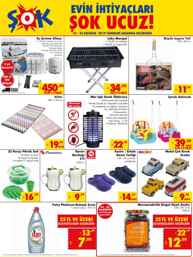 ŞOK 25 Haziran aktüel ürünler kataloğu