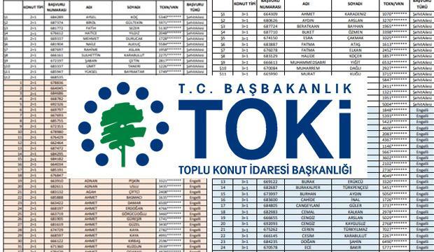 2019 TOKİ kura sonuçları isim listesi: (Başakşehir Kayabaşı Projesi)