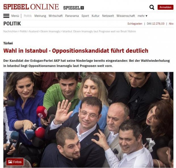 Aynı dergi yenilenen İstanbul seçimlerinde CHP adayının kazanmasını büyük bir zafer olarak gördü.