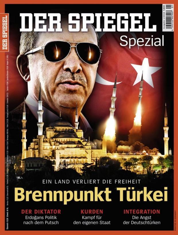 Alman dergisi Der Spiegel, Erdoğan'a 'Diktatör' göndermesi yapan kapakla çıkmıştı