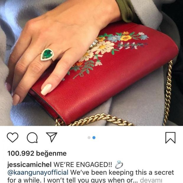 Jessica Michel Serfaty'in nişan paylaşımı