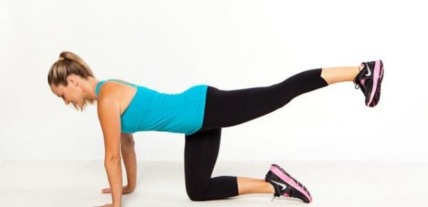 Kalça yapan Lunge egzersizi