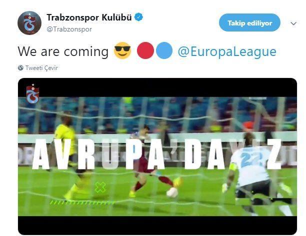 Trabzonspor'un paylaşımı